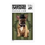 Gentleman French Bulldog Postage Stamp
