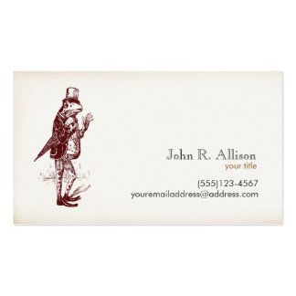 Gentleman Frog Calling Card Business Cards