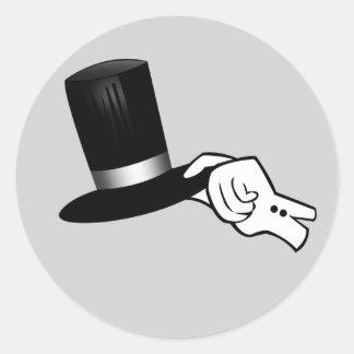 Gentleman Hat Tip Classic Round Sticker