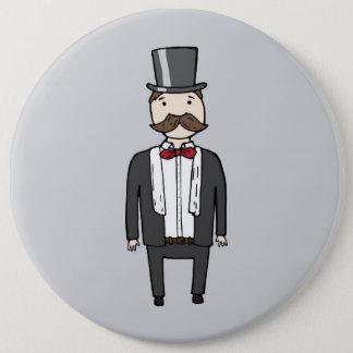 Gentleman in suit button