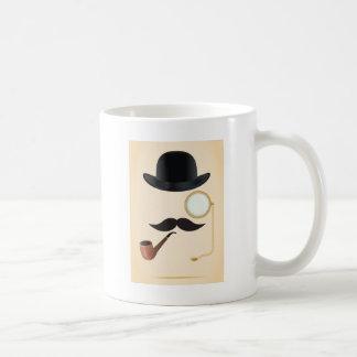 Gentleman Moustache Must-Dash Monacle & Bowler Hat Coffee Mug