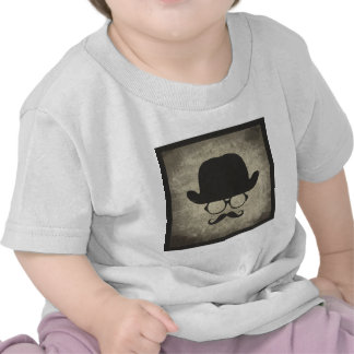 Gentleman Must-Dash Moustache Bowler Hat T Shirt