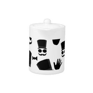 Gentleman pattern teapot