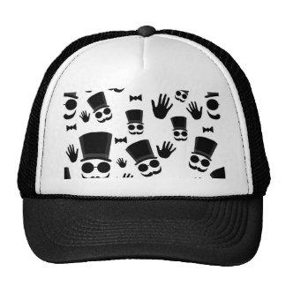 Gentleman pattern trucker hat