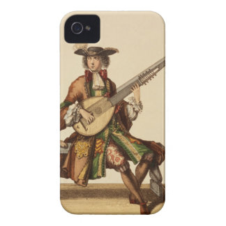 Gentleman Playing the Angelica, fashion plate, c.1 Case-Mate iPhone 4 Case
