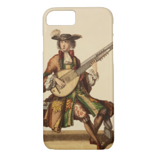 Gentleman Playing the Angelica, fashion plate, c.1 iPhone 7 Case