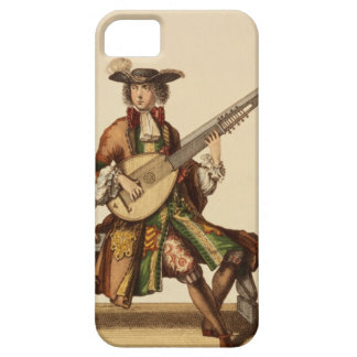 Gentleman Playing the Angelica, fashion plate, c.1 iPhone SE/5/5s Case