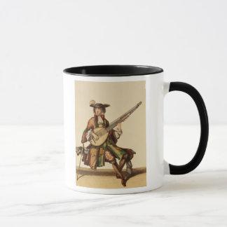 Gentleman Playing the Angelica, fashion plate, c.1 Mug