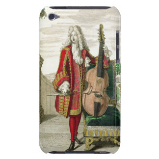 Gentleman playing the cello, published c.1688-90 ( barely there iPod covers