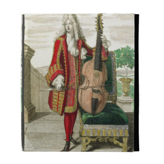 Gentleman playing the cello, published c.1688-90 ( iPad folio covers