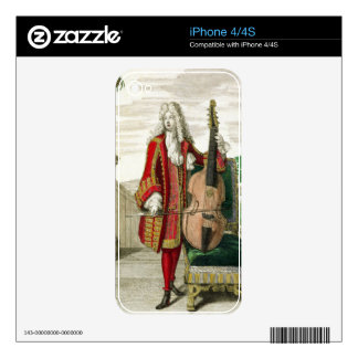 Gentleman playing the cello, published c.1688-90 ( iPhone 4S decal