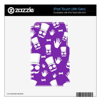 Gentleman - purple pattern skin for iPod touch 4G