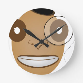Gentleman Round Clock