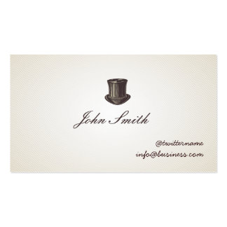 Gentleman s Top Hat Calling Card business card