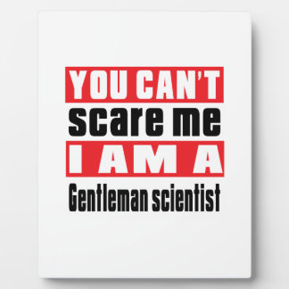 Gentleman scientist scare designs photo plaques