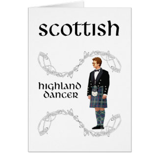 Gentleman Scottish Highland Dancer Card