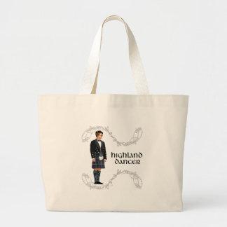 Gentleman Scottish Highland Dancer Jumbo Tote Bag