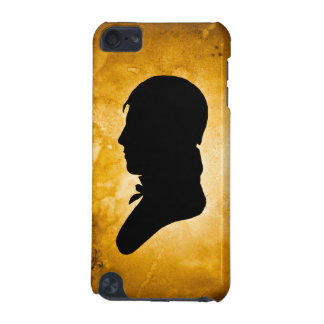 """Gentleman Silhouette on Gold"" iPod Touch case"