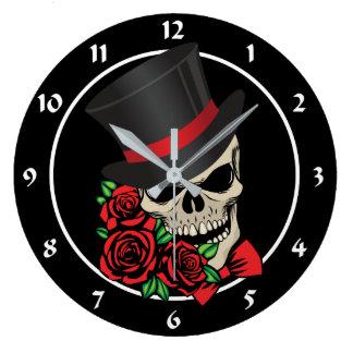 Gentleman Skull Large Clock
