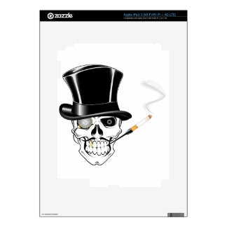 Gentleman Skull iPad 3 Decal