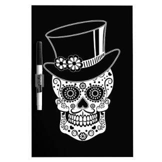 Gentleman Sugar Skull-01 Dry Erase Board