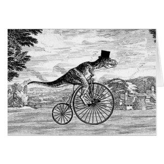 Gentleman T-Rex's Sunday Ride Card