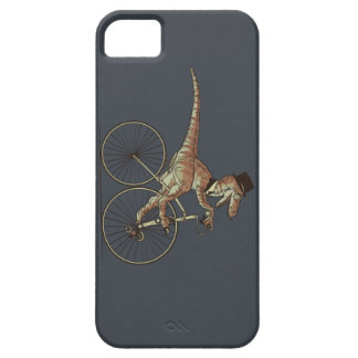 Gentleman Velociraptor Riding A Unicicyle iPhone SE/5/5s Case