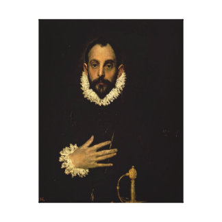 Gentleman with his hand on his chest, c.1580 canvas print