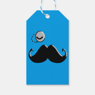 gentleman with monocle gift tags