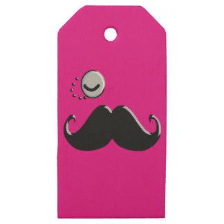 gentleman with monocle wooden gift tags
