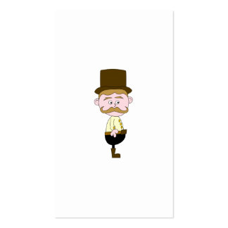 Gentleman with Mustache and Top Hat Business Card