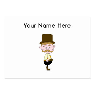 Gentleman with Mustache and Top Hat Business Card Template
