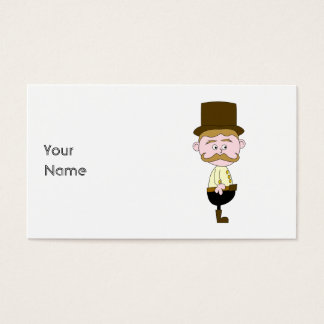 Gentleman with Mustache and Top Hat. Business Card