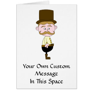 Gentleman with Mustache and Top Hat. Card