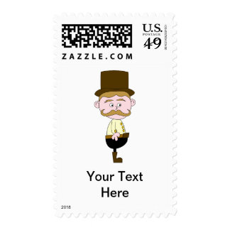 Gentleman with Mustache and Top Hat. Postage