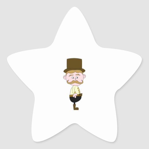 Gentleman with Mustache and Top Hat. Sticker