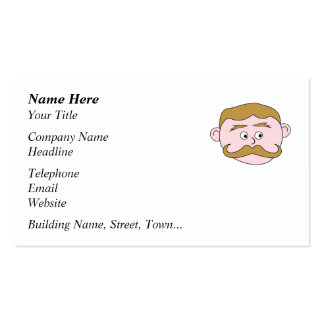 Gentleman with Mustache Business Card Templates