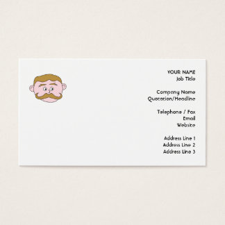 Gentleman with Mustache. Business Card