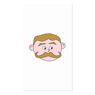 Gentleman with Mustache. Business Card