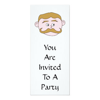 Gentleman with Mustache. Card