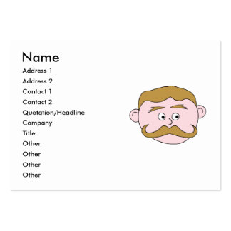 Gentleman with Mustache. Large Business Card