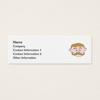Gentleman with Mustache. Mini Business Card