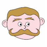 Gentleman with Mustache. Photo Cut Out