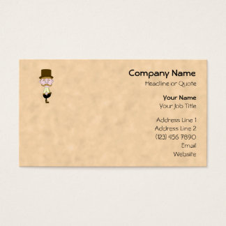 Gentleman with Top Hat and Mustache. Business Card