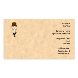 Gentleman with Top Hat and Mustache Business Cards