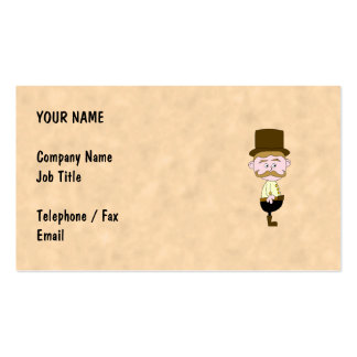 Gentleman with Top Hat and Mustache Business Card