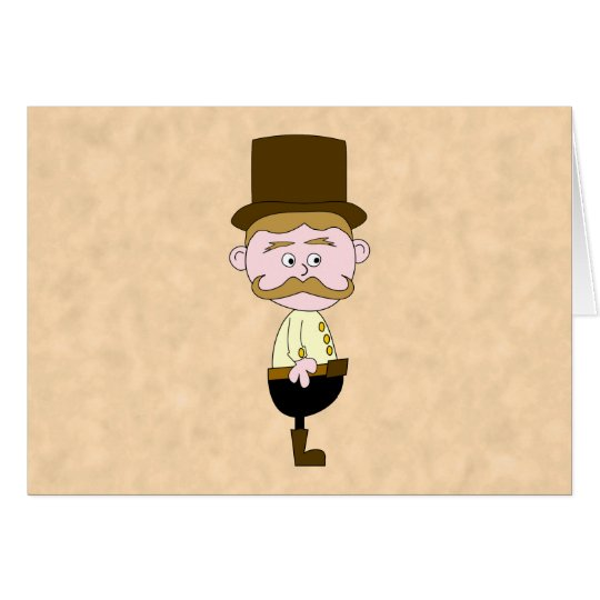 Gentleman with Top Hat and Mustache. Card