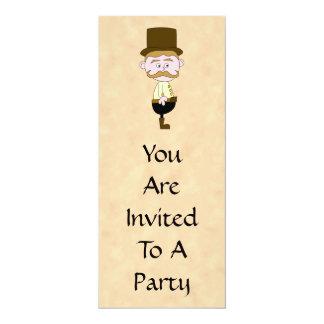 Gentleman with Top Hat and Mustache. Custom Card