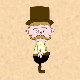 Gentleman with Top Hat and Mustache. Custom Photo Sculpture