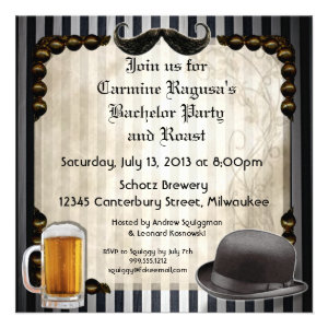 Gentleman's Bachelor Party Invitations, Version 7